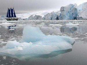 hình ảnh băng tan làm thay đổi khí hậu