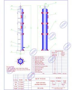 Hình ảnh bản vẽ tháp oxy hóa do CHEMIC thiết kế
