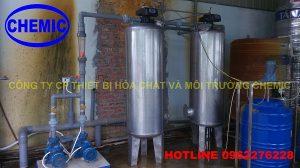 Công trình xử lý nước cấp tại nhà máy AMA