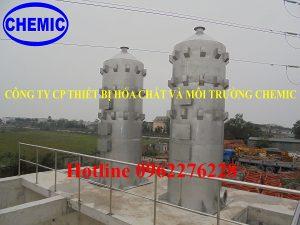 Tháp oxy hóa chemic chế tạo cho khu công nghiệp phố nối A