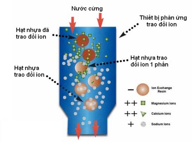 hình ảnh nguyên lý hoạt động hạt nhựa trao đổi ion