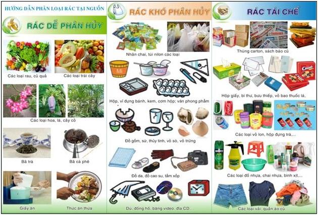 hướng dẫn phân loại rác tại nguồn