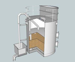 cấu tạo bên trong của thiết bị lọc tự rửa